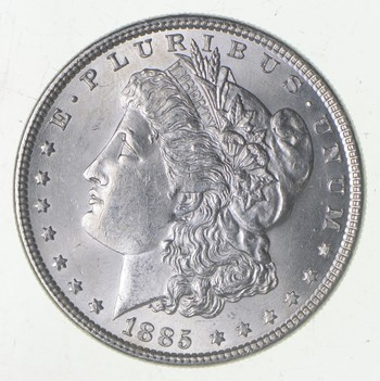 Unc Uncirculated 1885 Morgan Silver Dollar - $1.00 Mint State MS BU
