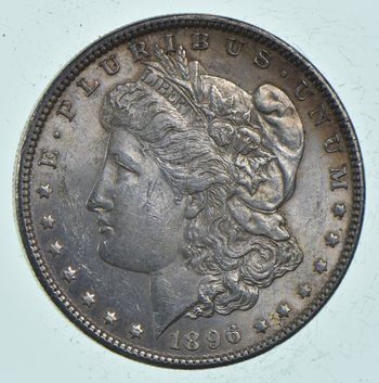 Unc Uncirculated 1896 Morgan Silver Dollar - $1.00 Mint State MS BU