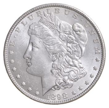 Unc Uncirculated 1898 Morgan Silver Dollar - $1.00 Mint State MS BU