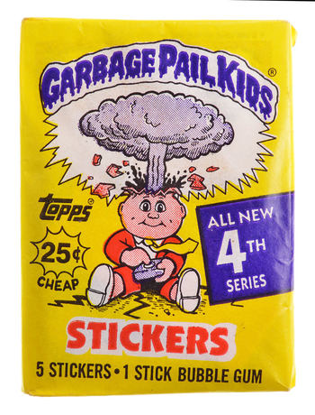 Unopened 1986 Topps Chewing Gum - Garbage Pail Kids 4th Series STICKERS - Included 5 Stickers & 1 Stick Of Bubble Gum