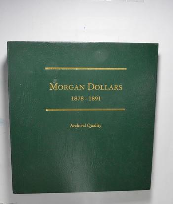 Used Littleton 1878-1891 Morgan Dollars Empty Coin Album Book - * 26.6 Oz.