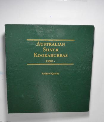 Used Littleton 1990-To Date Australian Silver Kookaburras Empty Coin Album Book - * 19.3 Oz.