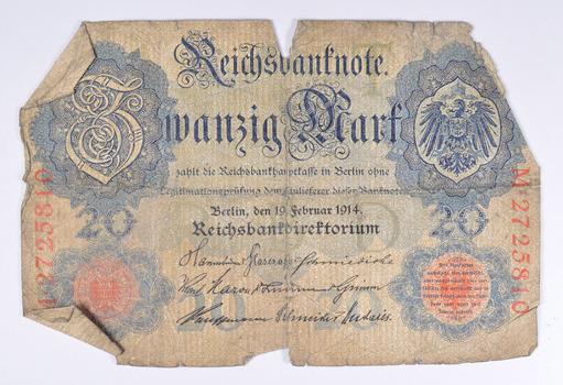 Vintage Germany Paper Money Currency - Historic German Note