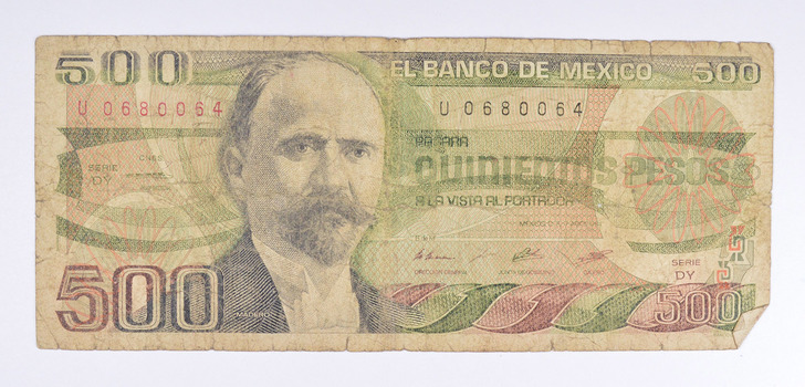 Vintage Mexican Paper Money Currency - Collectible Note
