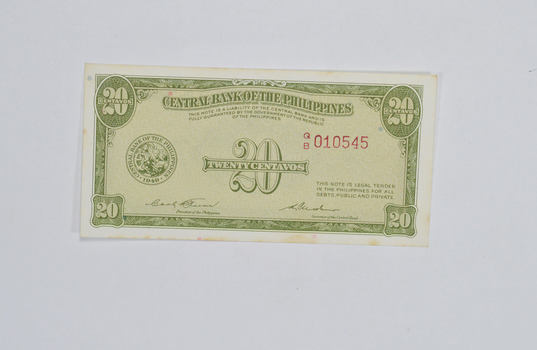 Vintage Philippines Paper Money Currency - Collectible Note