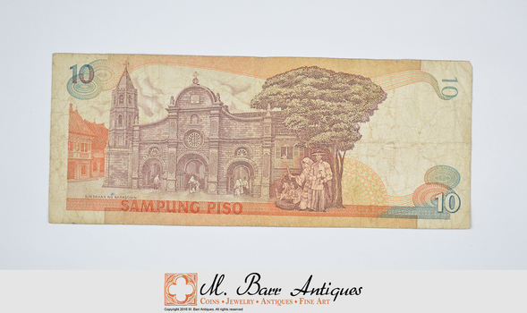 Vintage Philippino Paper Money Currency - Collectible Note