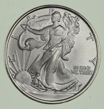 Walking Liberty Pure Silver Round - 1/10 T Oz. .999 Fine Silver