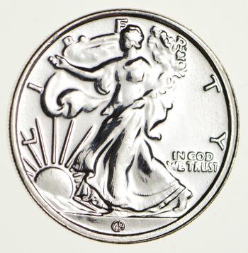 Walking Liberty Pure Silver Round - SHINY - 1/10 T Oz. .999 Fine Silver