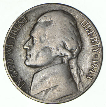WARTIME - SILVER Jefferson Nickel - 35% Silver - WWII History Coin