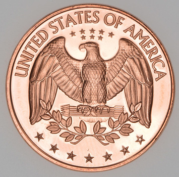 Washington Quarter Reverse Tribute - 1 Oz .999 Fine Copper Round