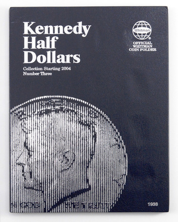 Whitman Blue Book Coin Folder Kennedy Half Dollars #3 Collection Starting 2004