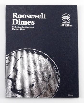Whitman Blue BookCoin Folder Roosevelt Dimes #3 Collection Starting 2005