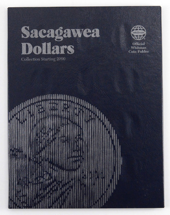 Whitman Blue Book Coin Folder Sacagawea Dollars Collection Starting 2000