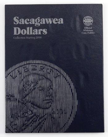 Whitman Blue BookCoin Folder Sacagawea Dollars Collection Starting 2000