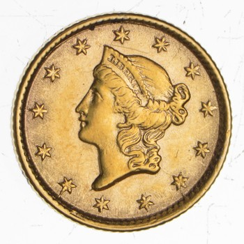 Worn Date Liberty Head Gold Dollar