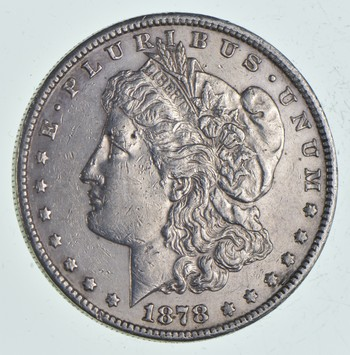W@W Early 1878-S Morgan Silver Dollar - 90% US Coin - Nice Coin