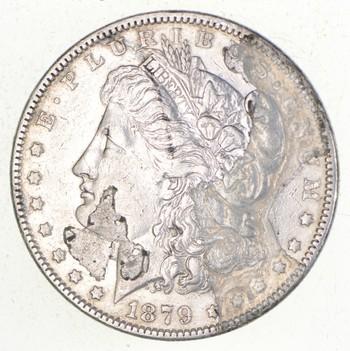 W@W Early 1879 Morgan Silver Dollar - 90% US Coin - Nice Coin