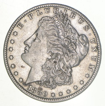 W@W Early 1880-O Morgan Silver Dollar - 90% US Coin - Nice Coin