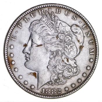 W@W Early 1882 Morgan Silver Dollar - 90% US Coin - Nice Coin