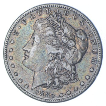 W@W Early 1884 Morgan Silver Dollar - 90% US Coin - Nice Coin