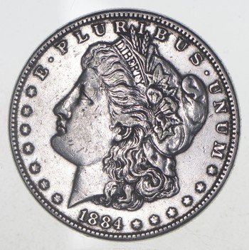 W@W Early 1884 Morgan Silver Dollar - 90% US Coin - Nice Coin