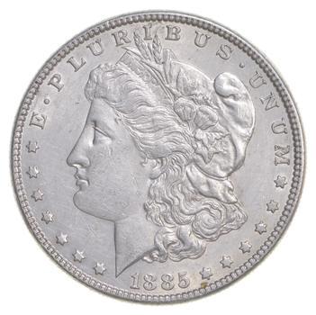W@W Early 1885 Morgan Silver Dollar - 90% US Coin - Nice Coin
