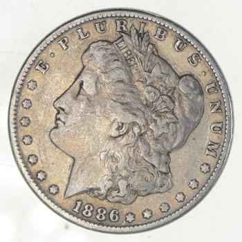 W@W Early 1886 Morgan Silver Dollar - 90% US Coin - Nice Coin