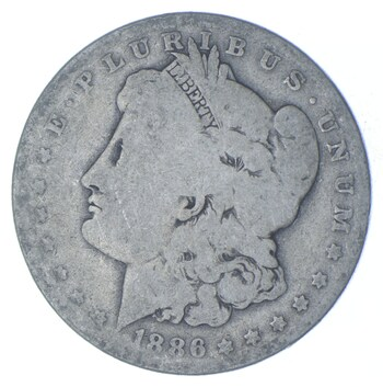 W@W Early 1886-O Morgan Silver Dollar - 90% US Coin - Nice Coin