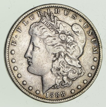 W@W Early 1888 Morgan Silver Dollar - 90% US Coin - Nice Coin