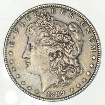 W@W Early 1889 Morgan Silver Dollar - 90% US Coin - Nice Coin