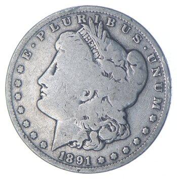 W@W Early 1891-O Morgan Silver Dollar - 90% US Coin - Nice Coin