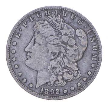 W@W Early 1892-O Morgan Silver Dollar - 90% US Coin - Nice Coin