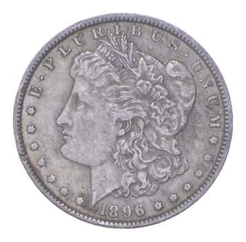 W@W Early 1896 Morgan Silver Dollar - 90% US Coin - Nice Coin