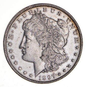 W@W Early 1897 Morgan Silver Dollar - 90% US Coin - Nice Coin