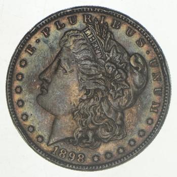 W@W Early 1898 Morgan Silver Dollar - 90% US Coin - Nice Coin