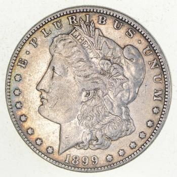 W@W Early 1899 Morgan Silver Dollar - 90% US Coin - Nice Coin
