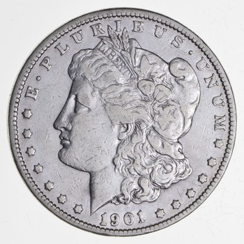 W@W Early 1901-O Morgan Silver Dollar - 90% US Coin - Nice Coin