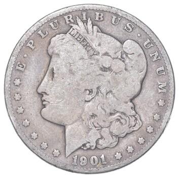 W@W Early 1901-O Morgan Silver Dollar - 90% US Coin - Nice Coin