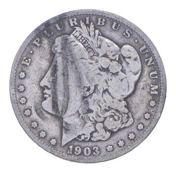 W@W Early 1903-S Morgan Silver Dollar - 90% US Coin - Nice Coin