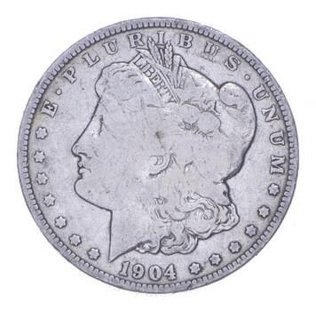 W@W Early 1904-O Morgan Silver Dollar - 90% US Coin - Nice Coin