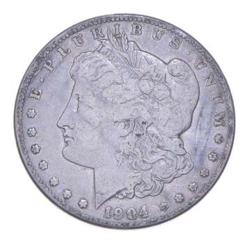 W@W Early 1904-S Morgan Silver Dollar - 90% US Coin - Nice Coin