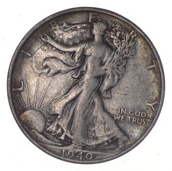 XF+ 1940-S Walking Liberty 90% Silver US Half Dollar - NICE COIN