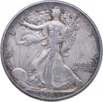 XF+ 1943 Walking Liberty 90% Silver US Half Dollar - NICE COIN