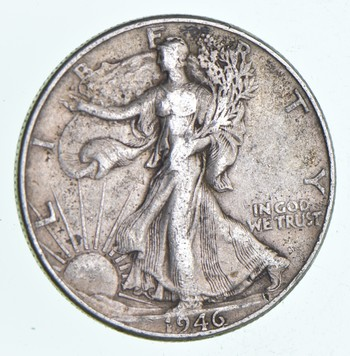 XF+ 1946 Walking Liberty 90% Silver US Half Dollar - NICE COIN
