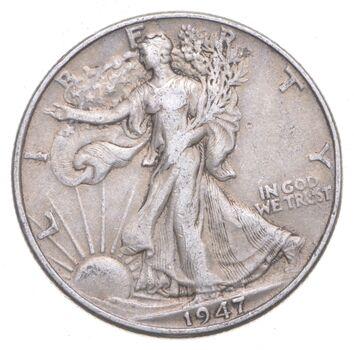 XF+ 1947 Walking Liberty 90% Silver US Half Dollar - NICE COIN