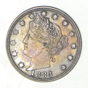 XF+ **Rare** 1883 'NO Cent' Liberty V Nickel - Tough - First Year Issue