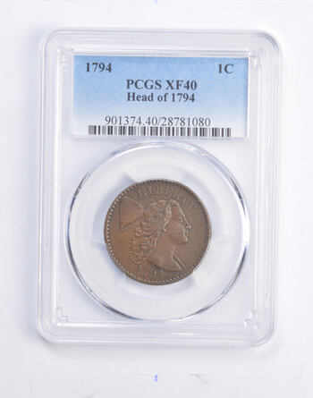 XF40 1794 Liberty Cap Large Cent - Head Of 1974 - Graded PCGS