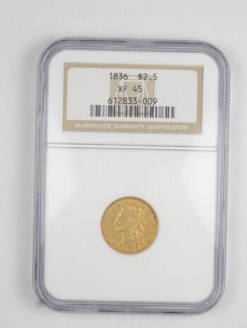 XF45 1836 $2.50 Classic Head Gold Quarter Eagle - Graded NGC