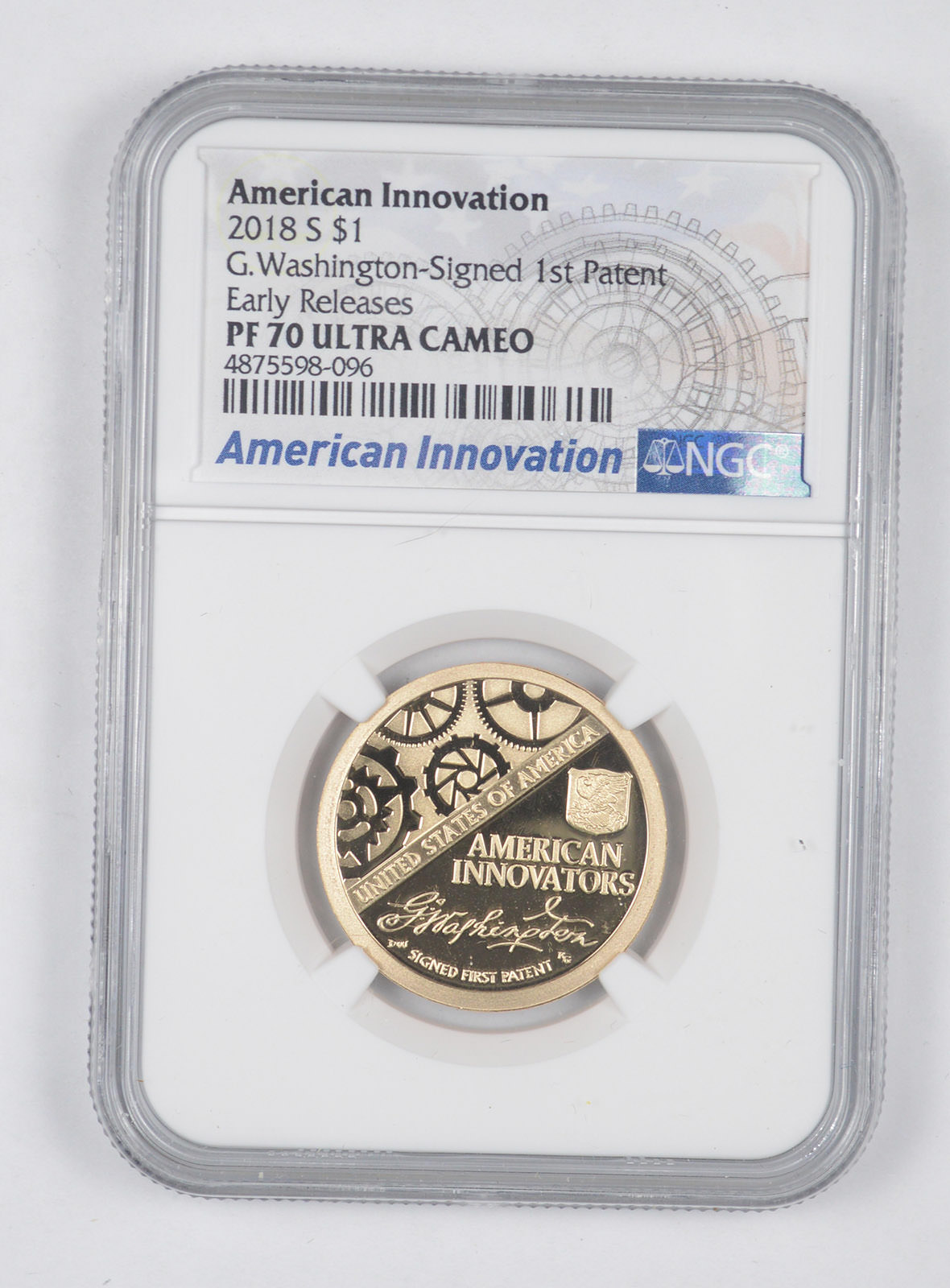 2018 S Proof American Innovation Dollar $1 NGC PF 70 Ultra Cameo