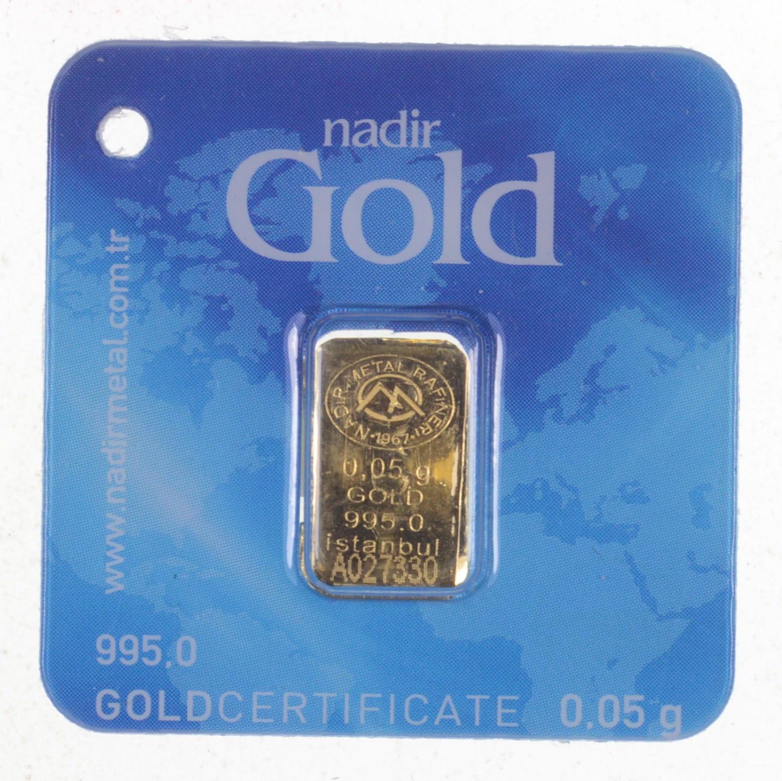 0 05 Gram 995 Nadir Gold Bar Istanbul Property Room